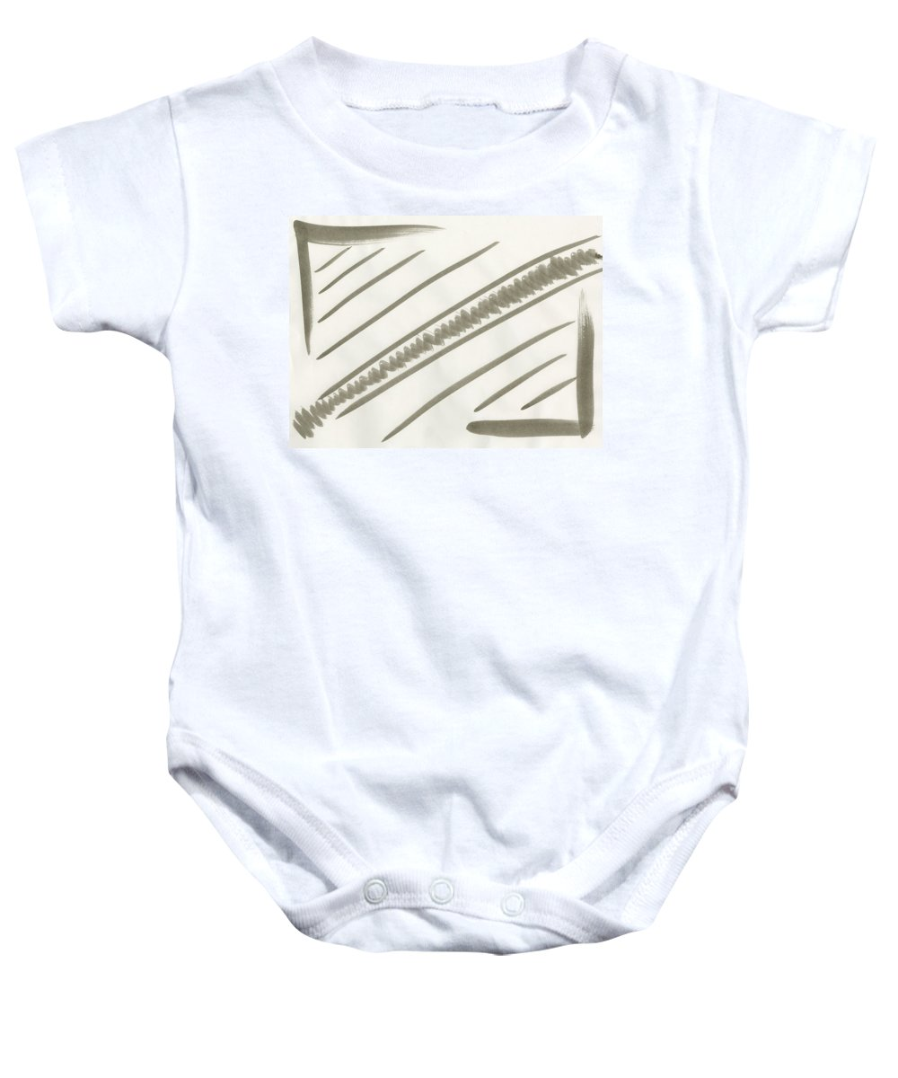 Natural Order Baby Onesie featuring the painting Natural Order by Taylor Webb