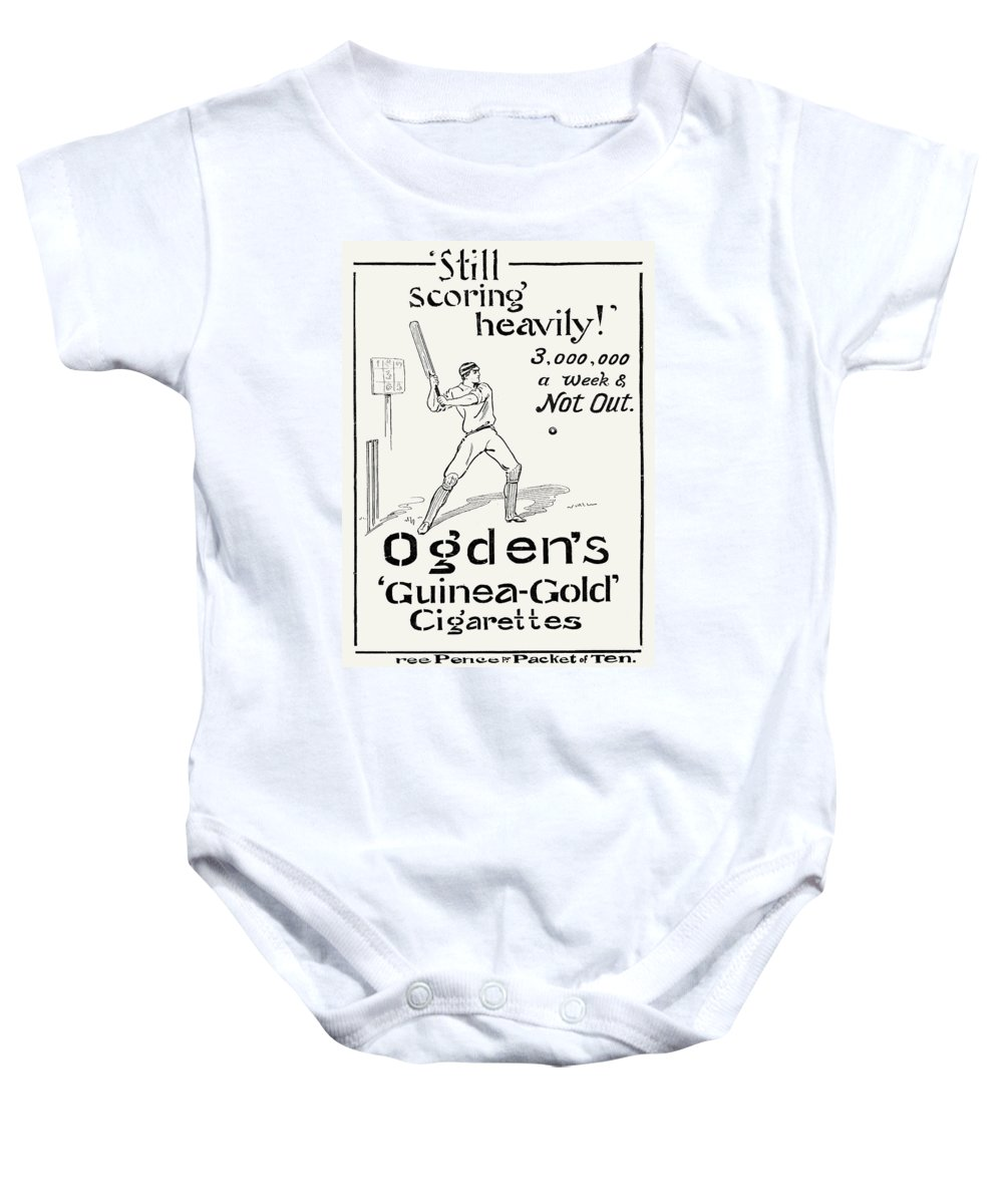 1897 Baby Onesie featuring the photograph Ogdens Cigarettes, 1897 by Granger