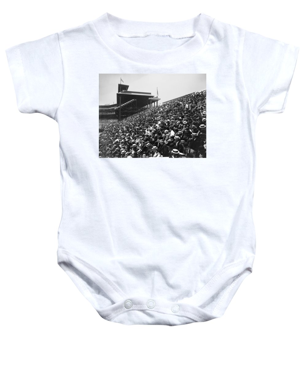1910 Baby Onesie featuring the photograph Pittsburgh: Forbes Field by Granger