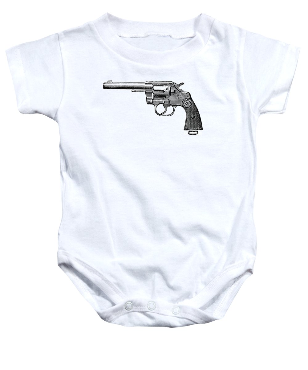 19th Century Baby Onesie featuring the photograph Revolver, 19th Century by Granger