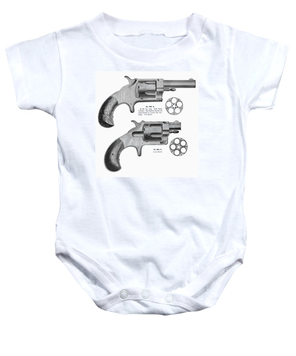 1880s Baby Onesie featuring the photograph Revolvers, 19th Century by Granger