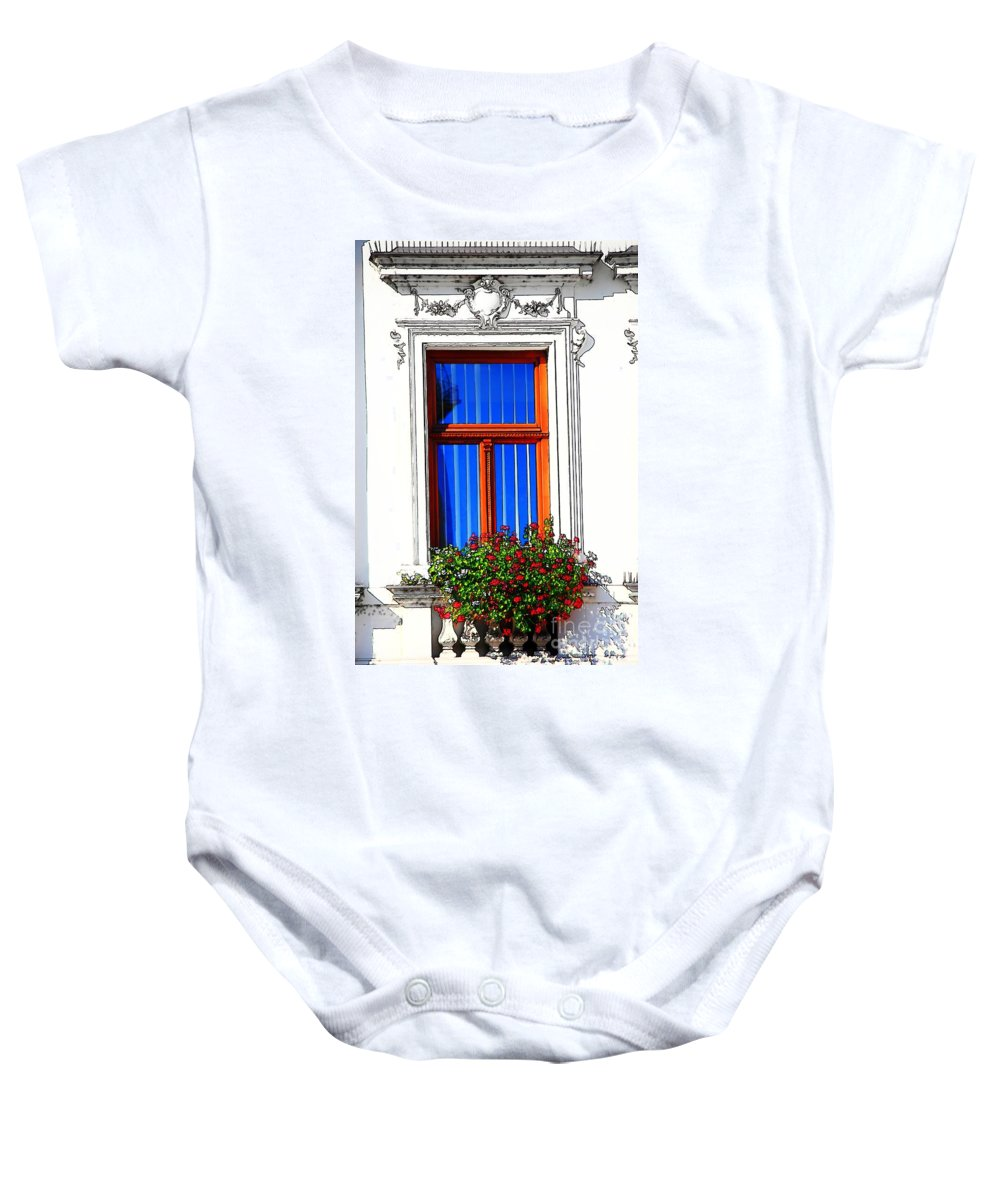 Balcony Baby Onesie featuring the photograph Summertime by Mariola Bitner