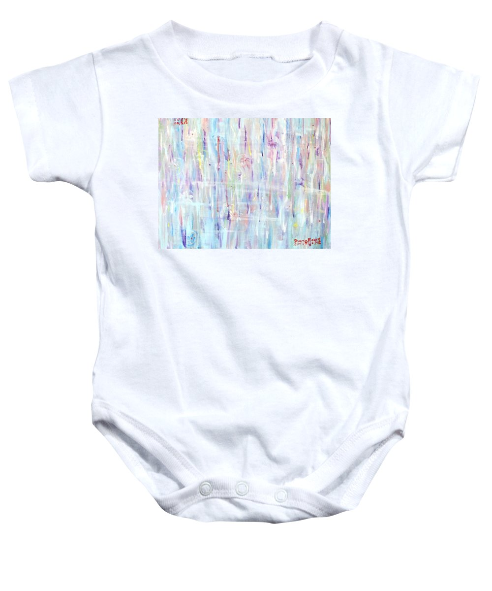 Abstract Baby Onesie featuring the painting The Sounds Of Rain by Shana Rowe Jackson