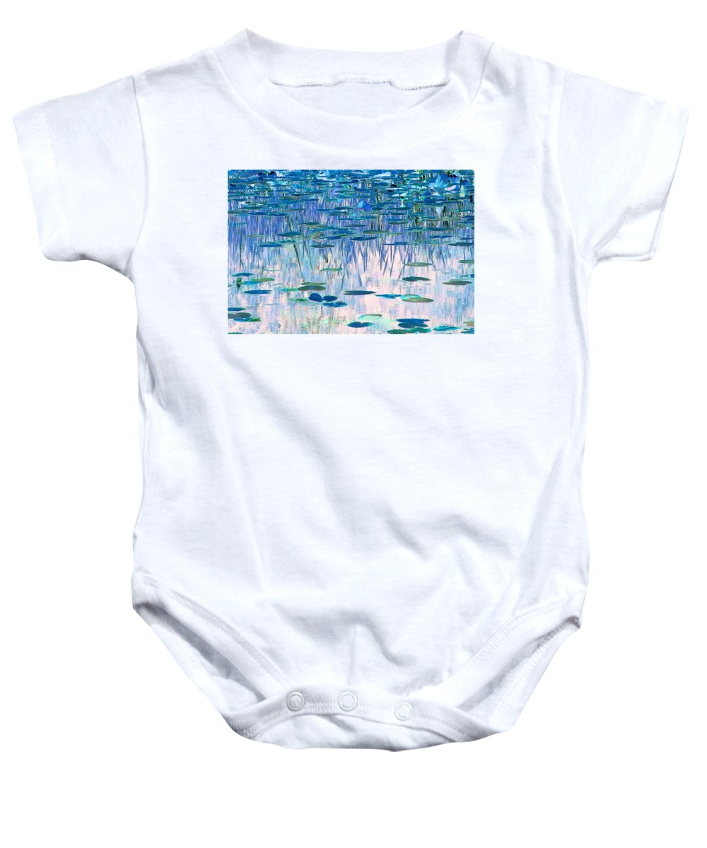 Ode To Monet Baby Onesie featuring the photograph Water Lilies by Chris Anderson