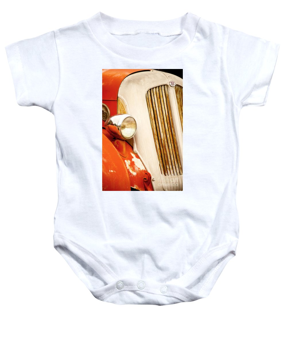 Fine Art Baby Onesie featuring the photograph 1940's Seagrave Fire Engine by Donna Greene