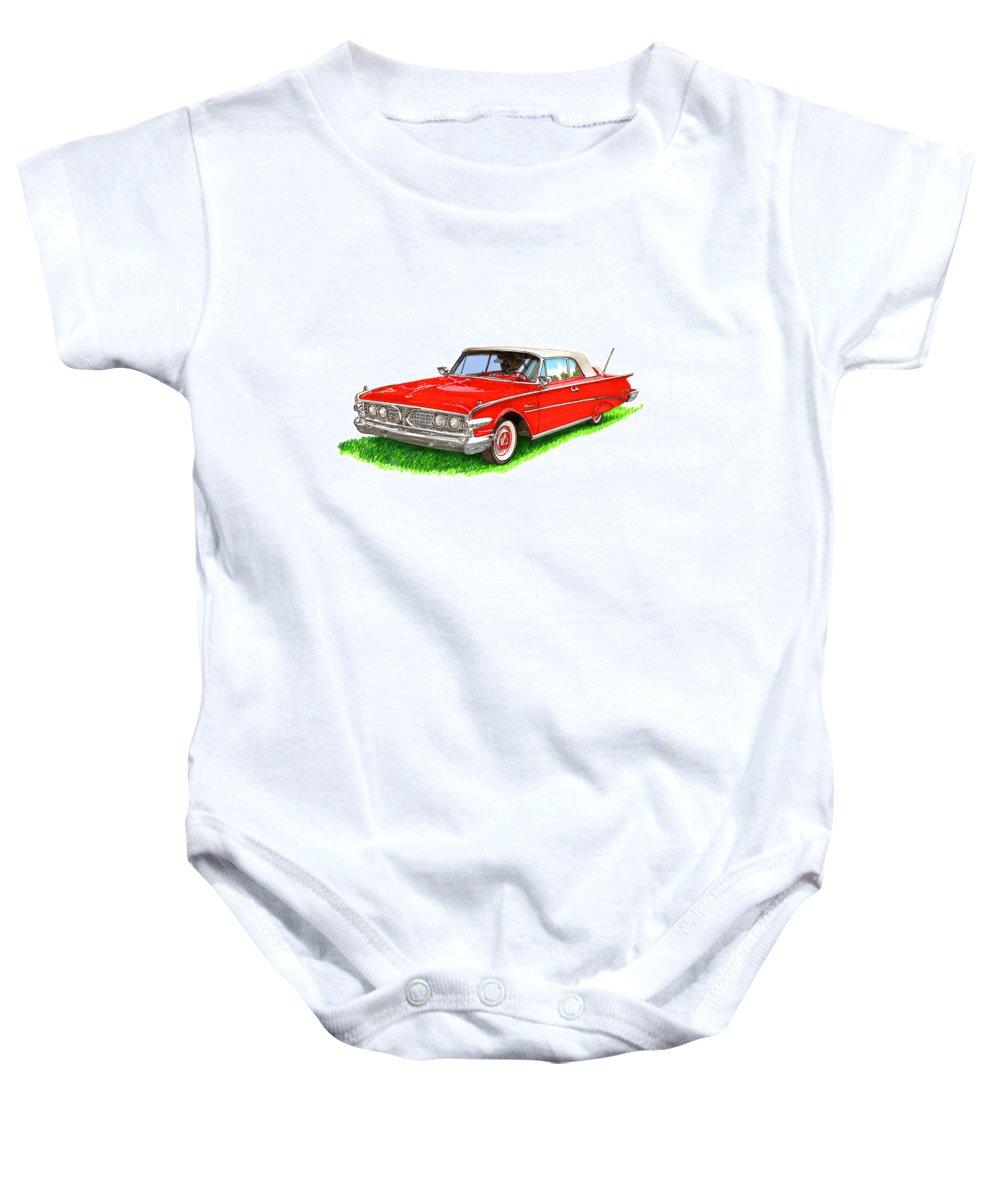 1960 Ford Edsel Ranger Convertible Baby Onesie featuring the painting 1960 Edsel Ranger Convertible by Jack Pumphrey