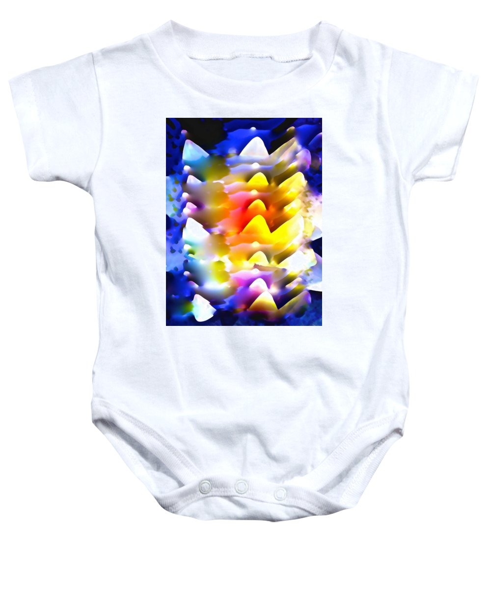 Abstract Baby Onesie featuring the photograph Abstract 61 by Pamela Cooper