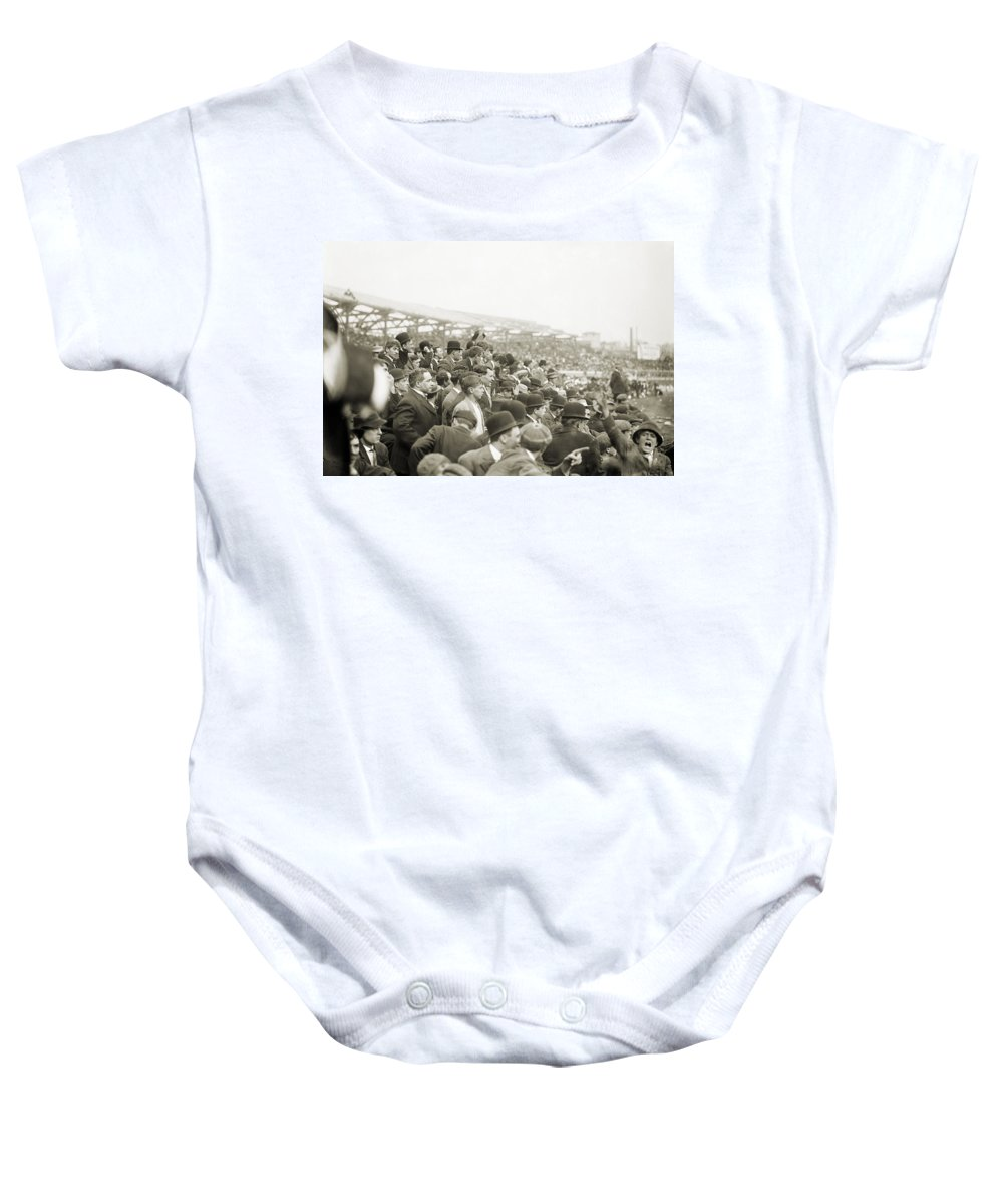 1908 Baby Onesie featuring the photograph Baseball: Playoff, 1908 by Granger