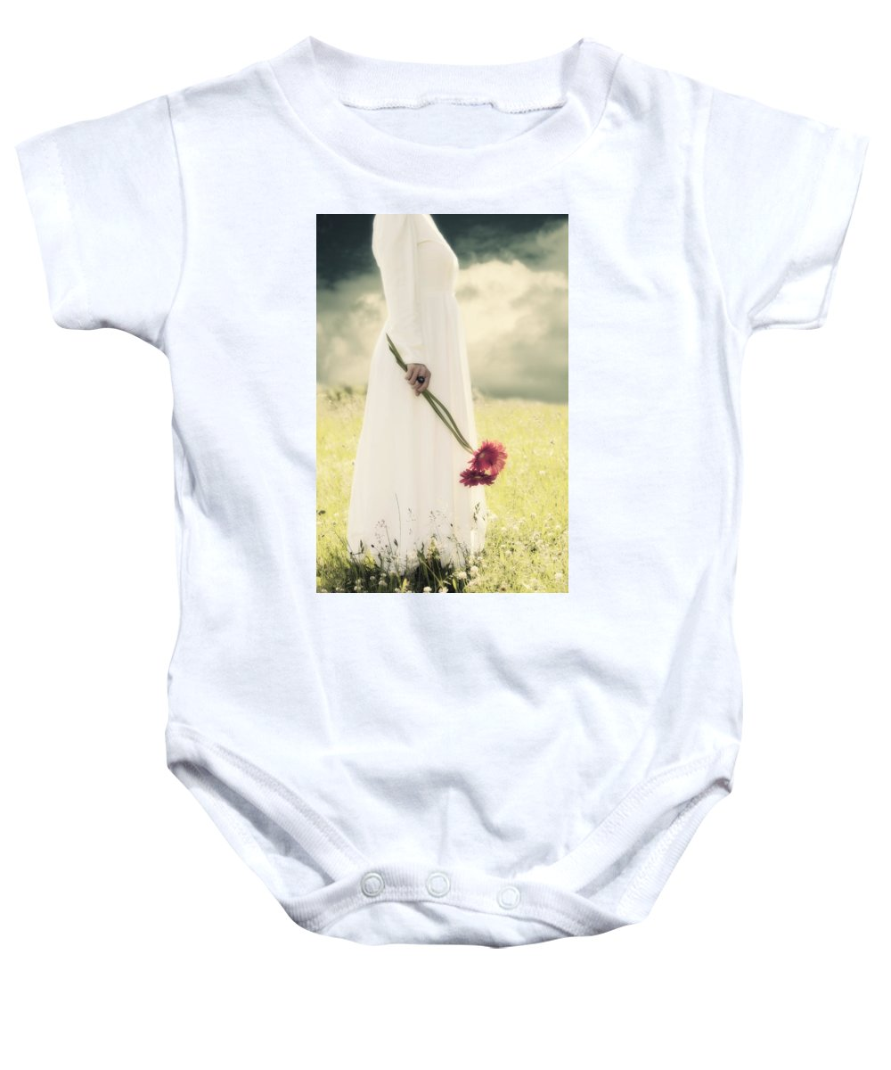 Female Baby Onesie featuring the photograph Flowers by Joana Kruse