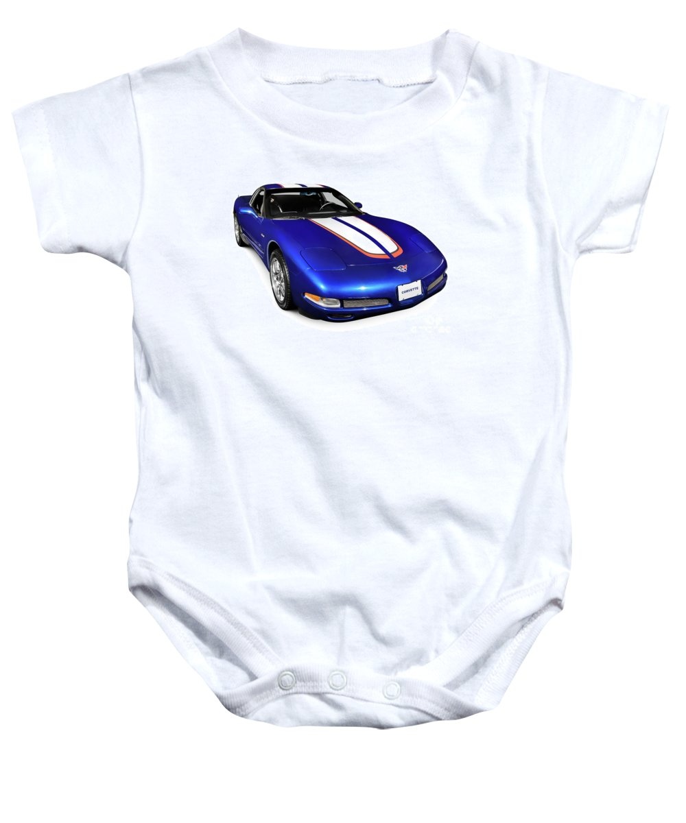 Chevrolet Baby Onesie featuring the photograph 2004 Chevrolet Corvette C5 by Oleksiy Maksymenko