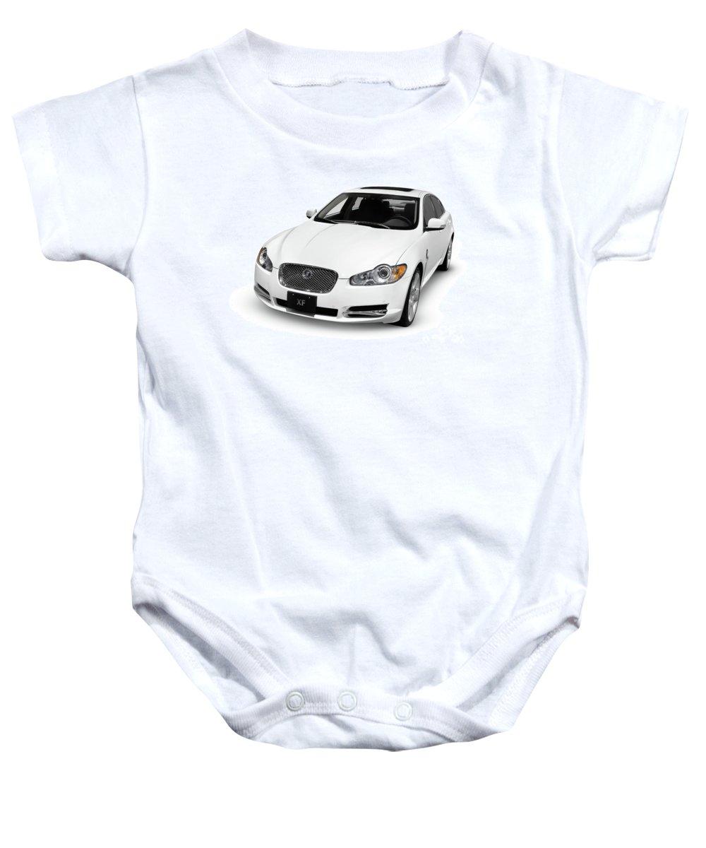 Jaguar Baby Onesie featuring the photograph 2009 Jaguar Xf Luxury Car by Oleksiy Maksymenko