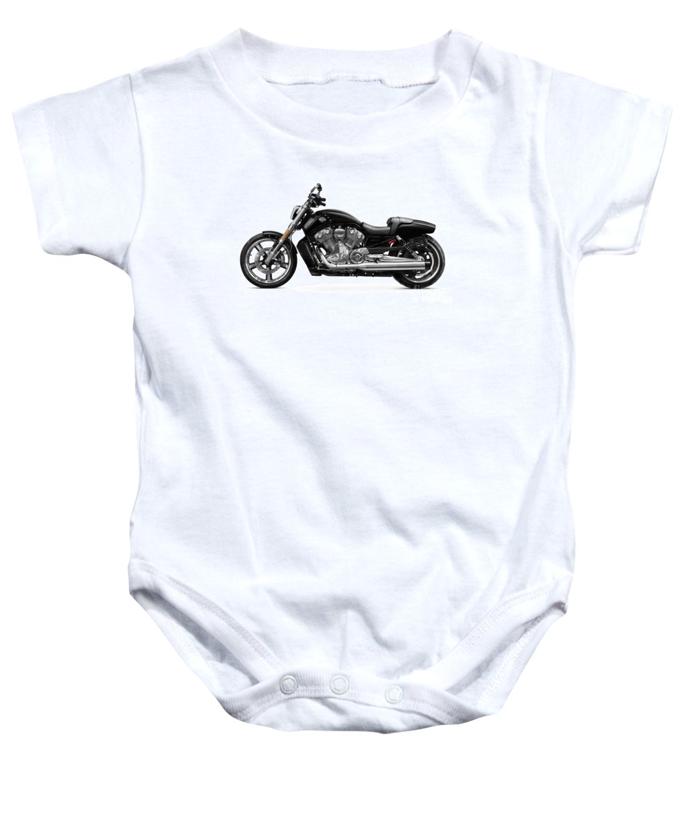 Motorcycle Baby Onesie featuring the photograph 2010 Harley-davidson Vrsc V-rod Muscle by Oleksiy Maksymenko