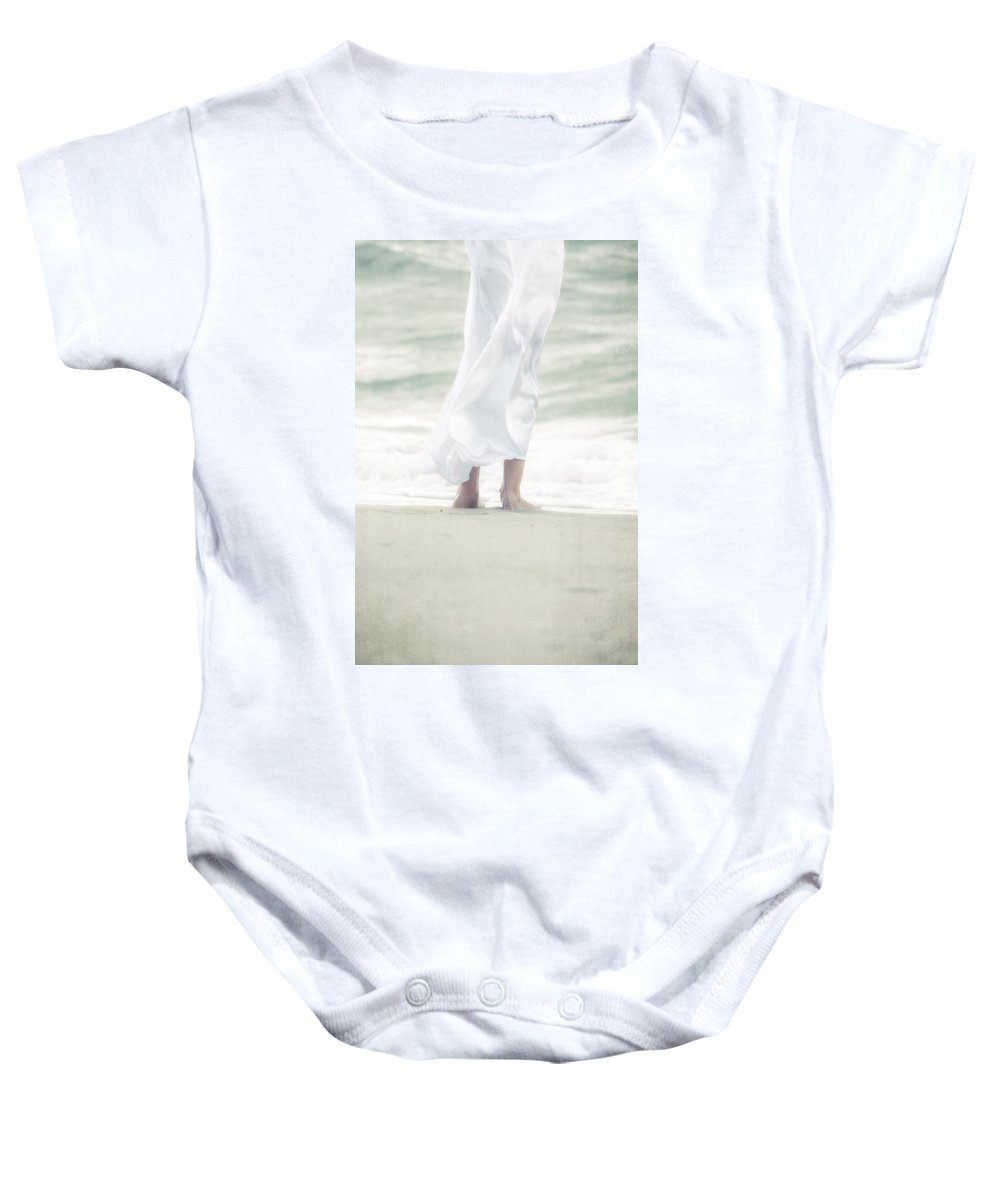 Girl Baby Onesie featuring the photograph Girl At The Sea by Joana Kruse