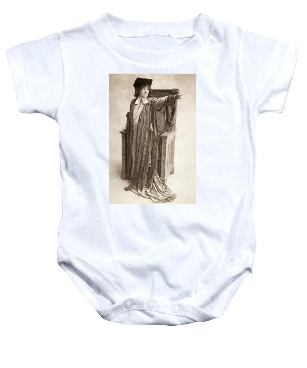 1917 Baby Onesie featuring the photograph Sarah Bernhardt by Granger