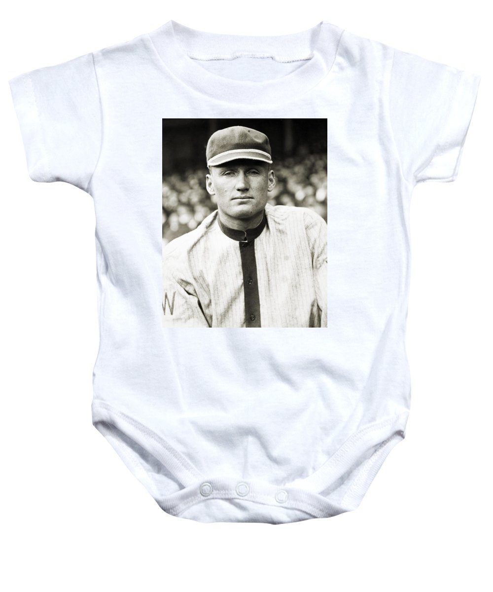 20th Century Baby Onesie featuring the photograph Walter Perry Johnson by Granger