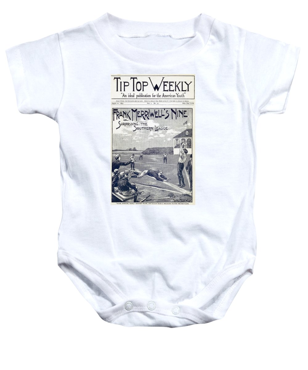 1897 Baby Onesie featuring the photograph Dime Novel, 1897 by Granger
