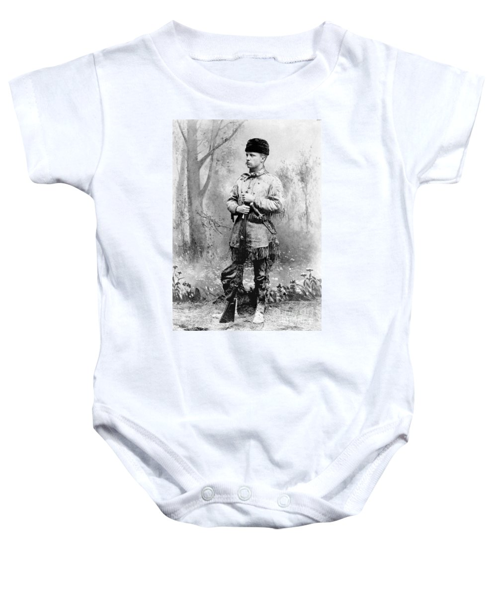 1885 Baby Onesie featuring the photograph Theodore Roosevelt by Granger