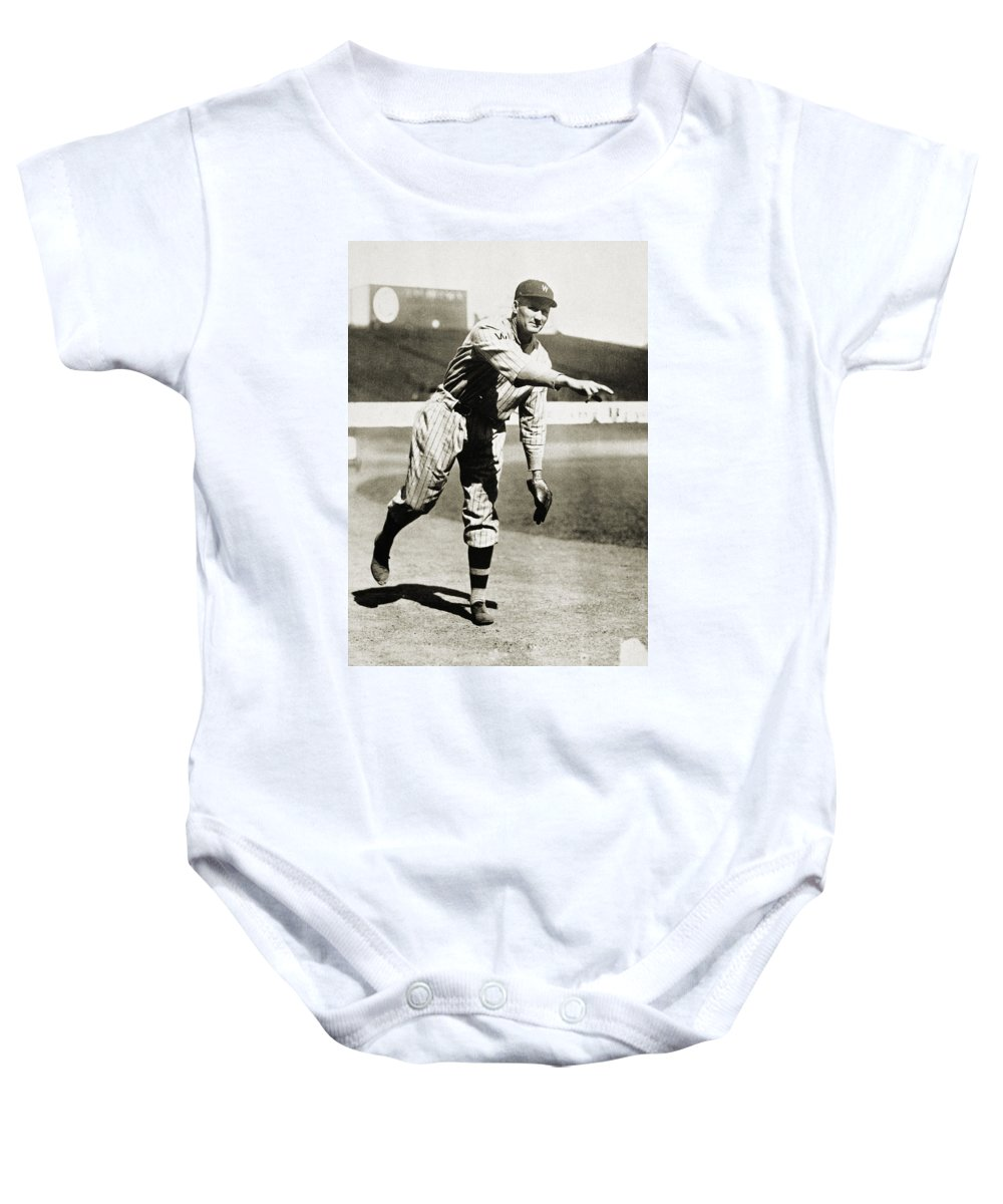 20th Century Baby Onesie featuring the photograph Walter Johnson (1887-1946) by Granger