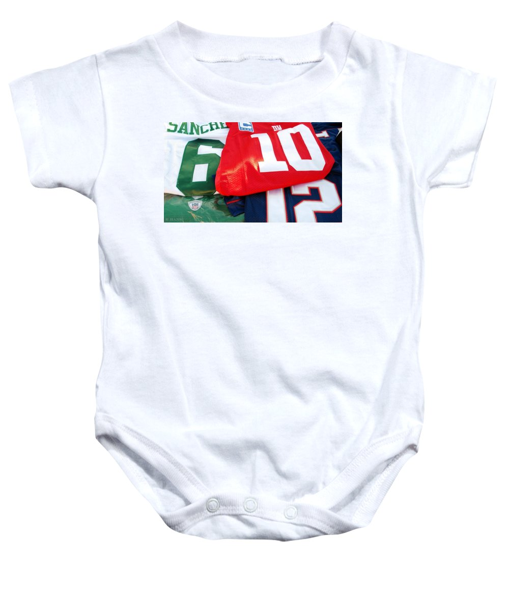 New York Giants Baby Onesie featuring the photograph 6 10 12 by Rob Hans