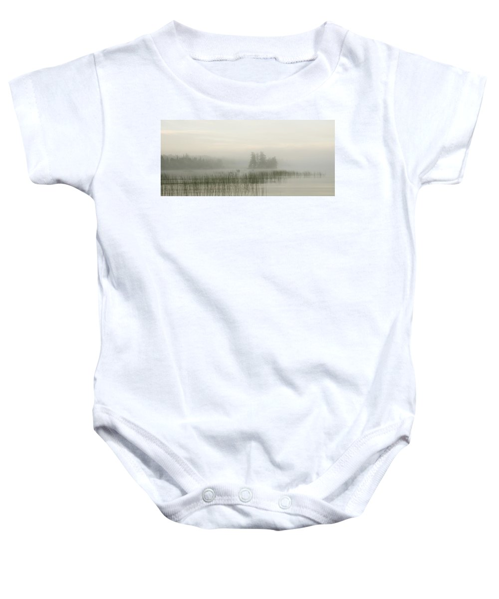 Calm Baby Onesie featuring the photograph Lake Of The Woods, Ontario, Canada by Keith Levit