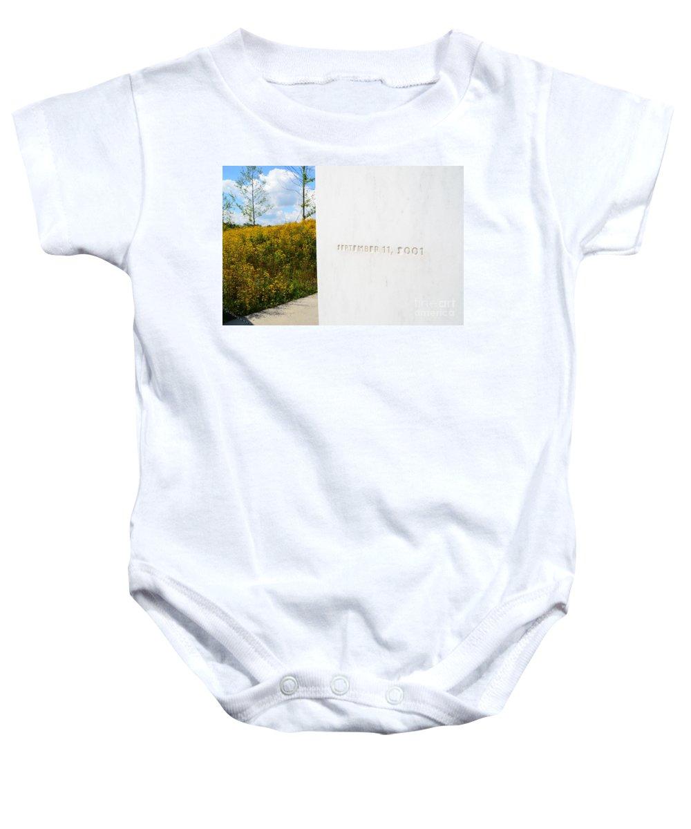 93 Baby Onesie featuring the photograph Flight 93 Memorial by Randy J Heath