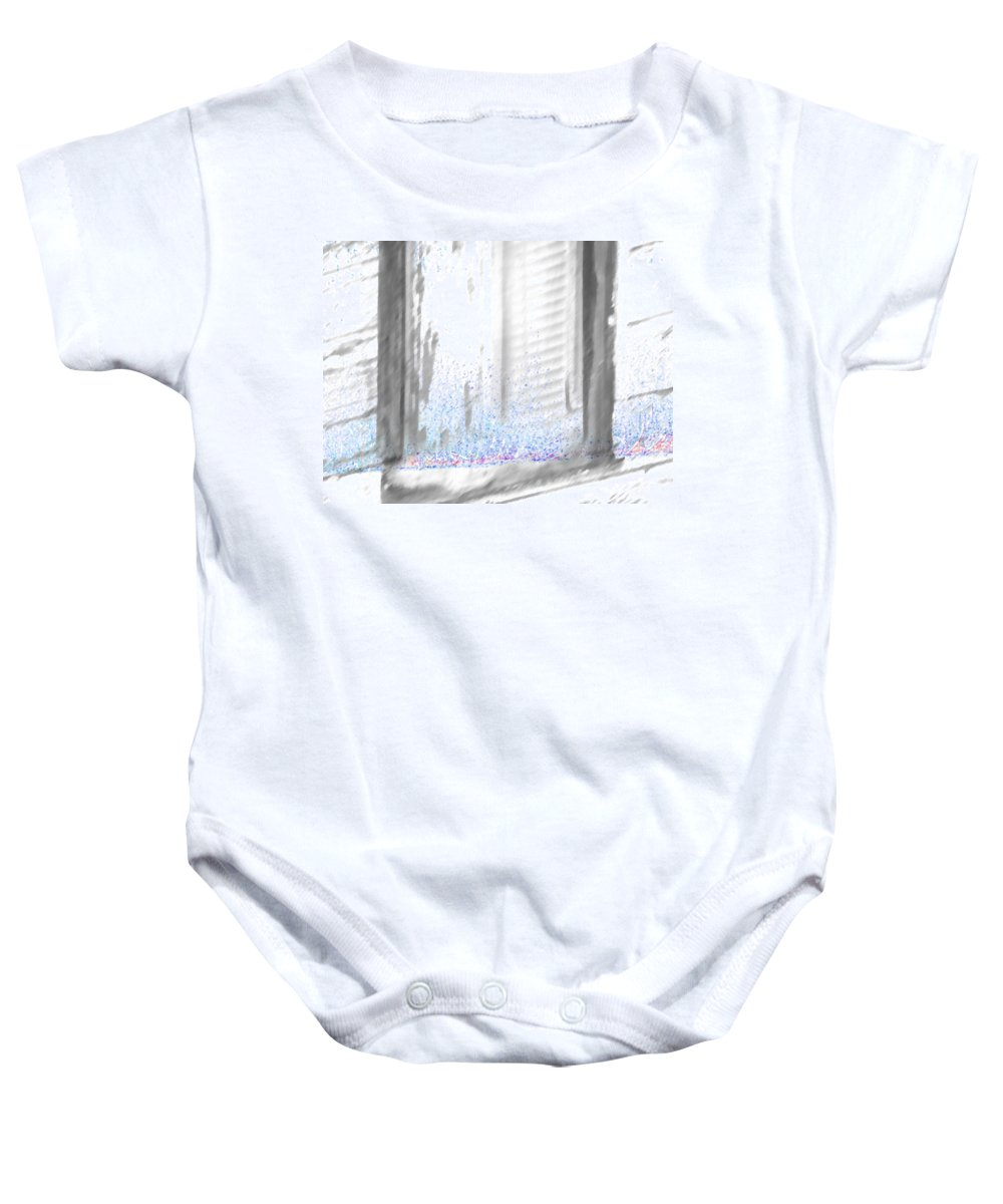 Abstract Baby Onesie featuring the photograph A Simple Window Sketch by Lenore Senior