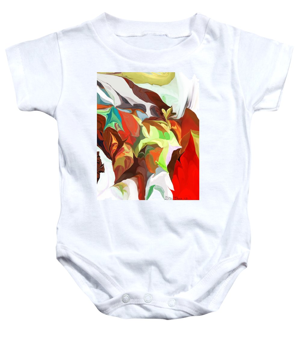 Fine Art Baby Onesie featuring the digital art Abstract 090112 by David Lane