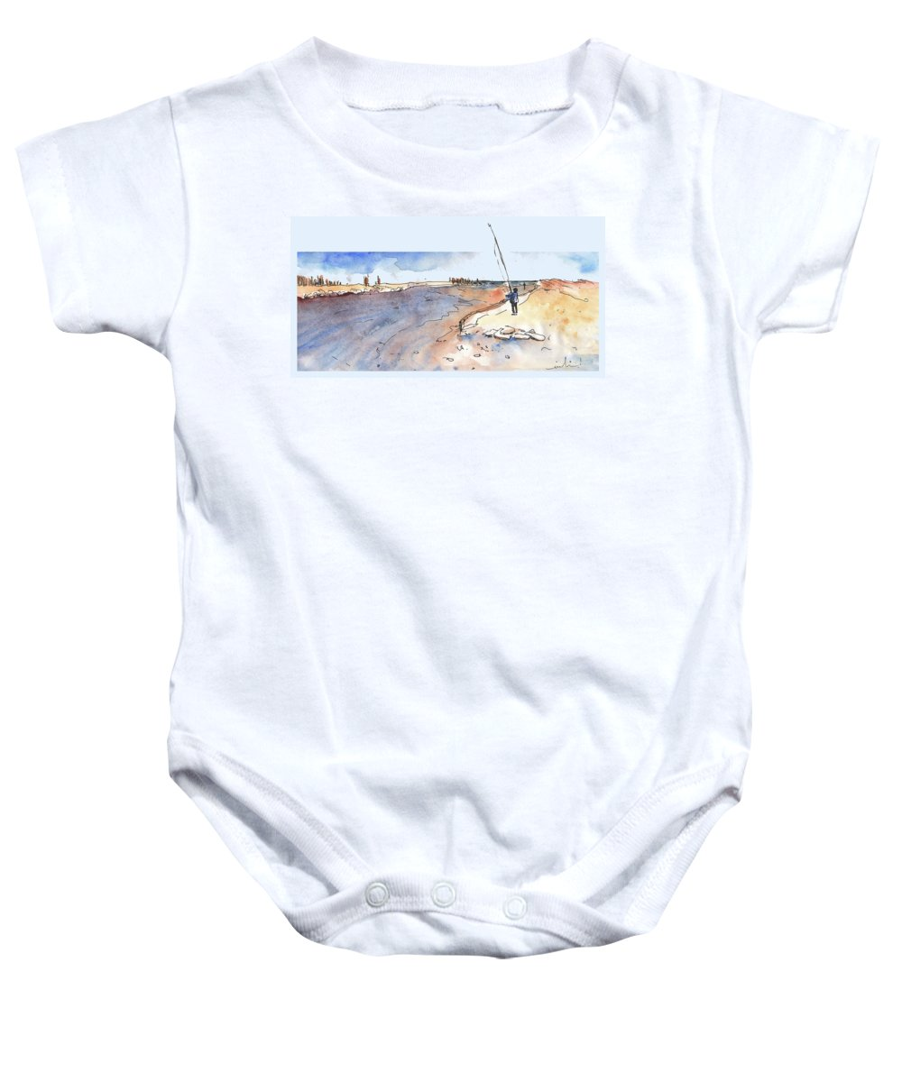 Travel Baby Onesie featuring the painting Albufera De Valencia 08 by Miki De Goodaboom
