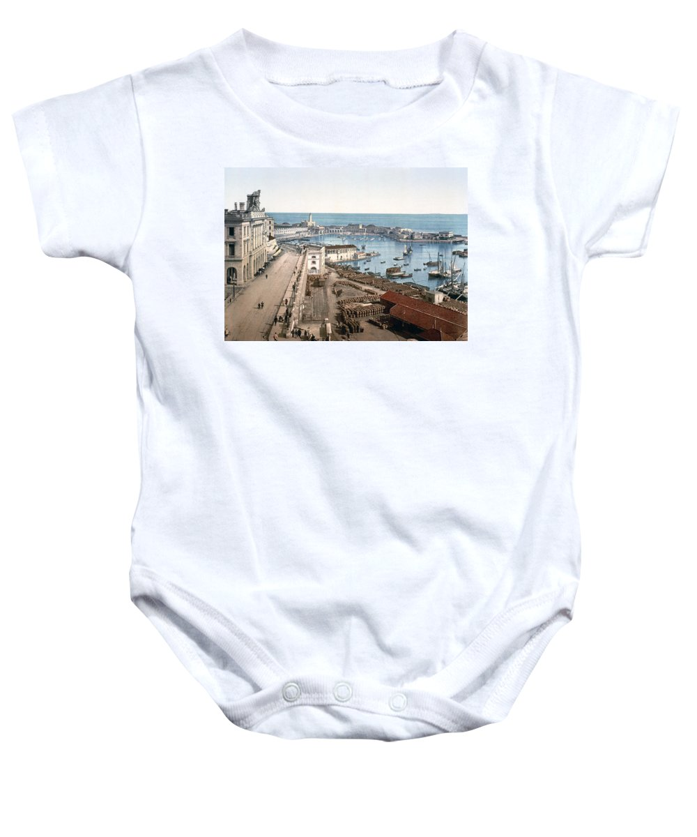 Algiers Baby Onesie featuring the photograph Algiers - Algeria - Harbor And Admiralty by International Images