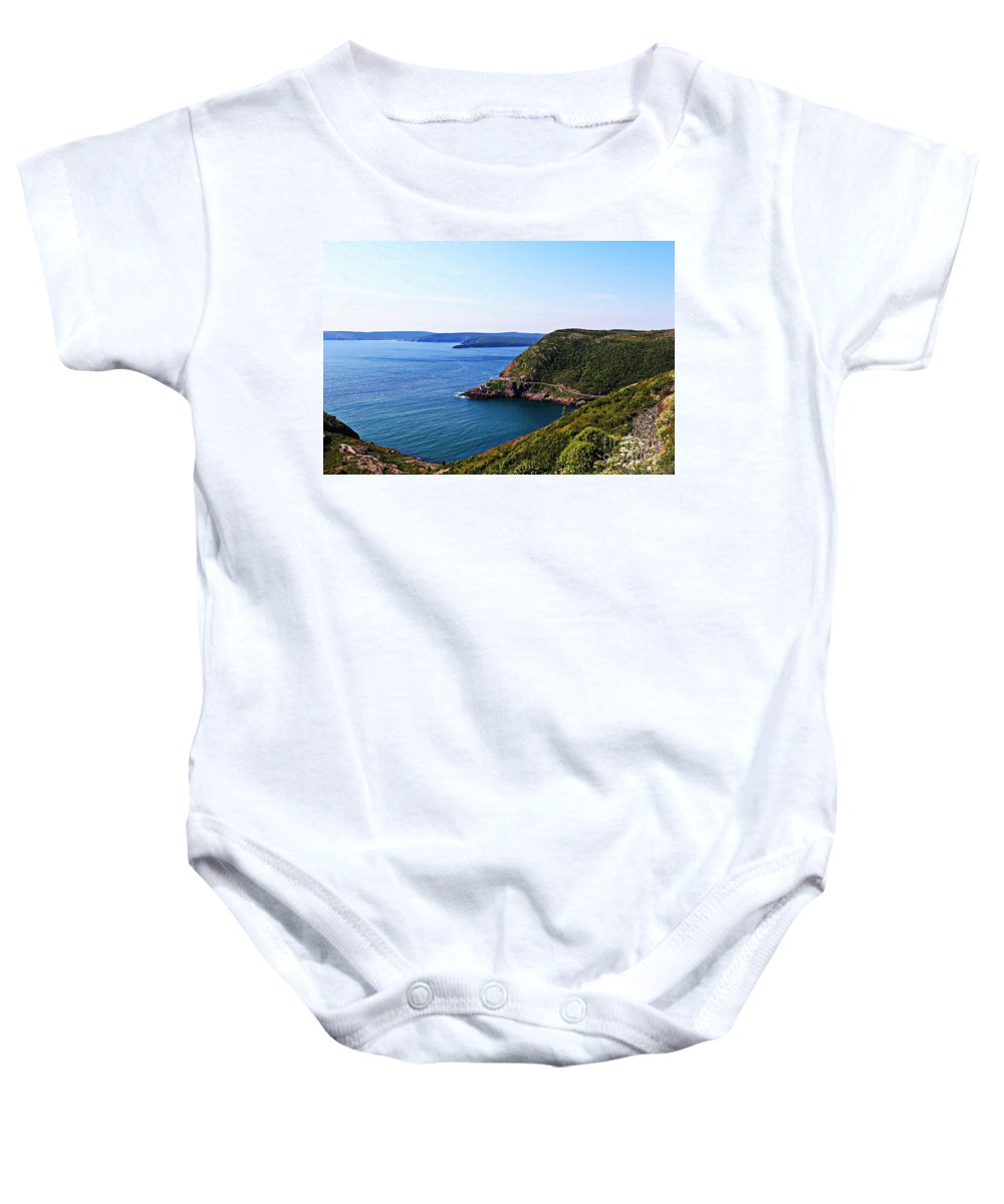 Amherst Rock Baby Onesie featuring the photograph Amherst Rock by Barbara Griffin