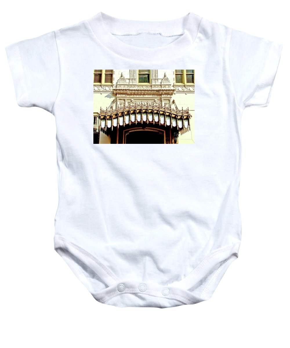 Architecture Baby Onesie featuring the photograph Architectural Detail New Orleans by Frances Hattier