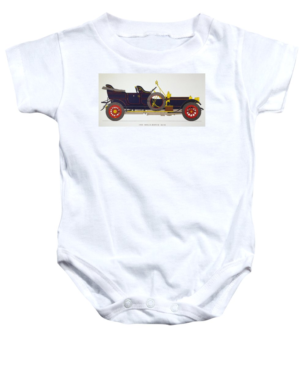 1908 Baby Onesie featuring the photograph Auto: Rolls-royce, 1908 by Granger