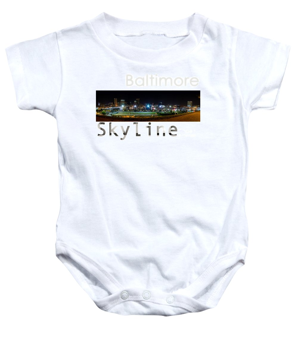 Baltimore Baby Onesie featuring the photograph Baltimore Downtown by Syed Aqueel