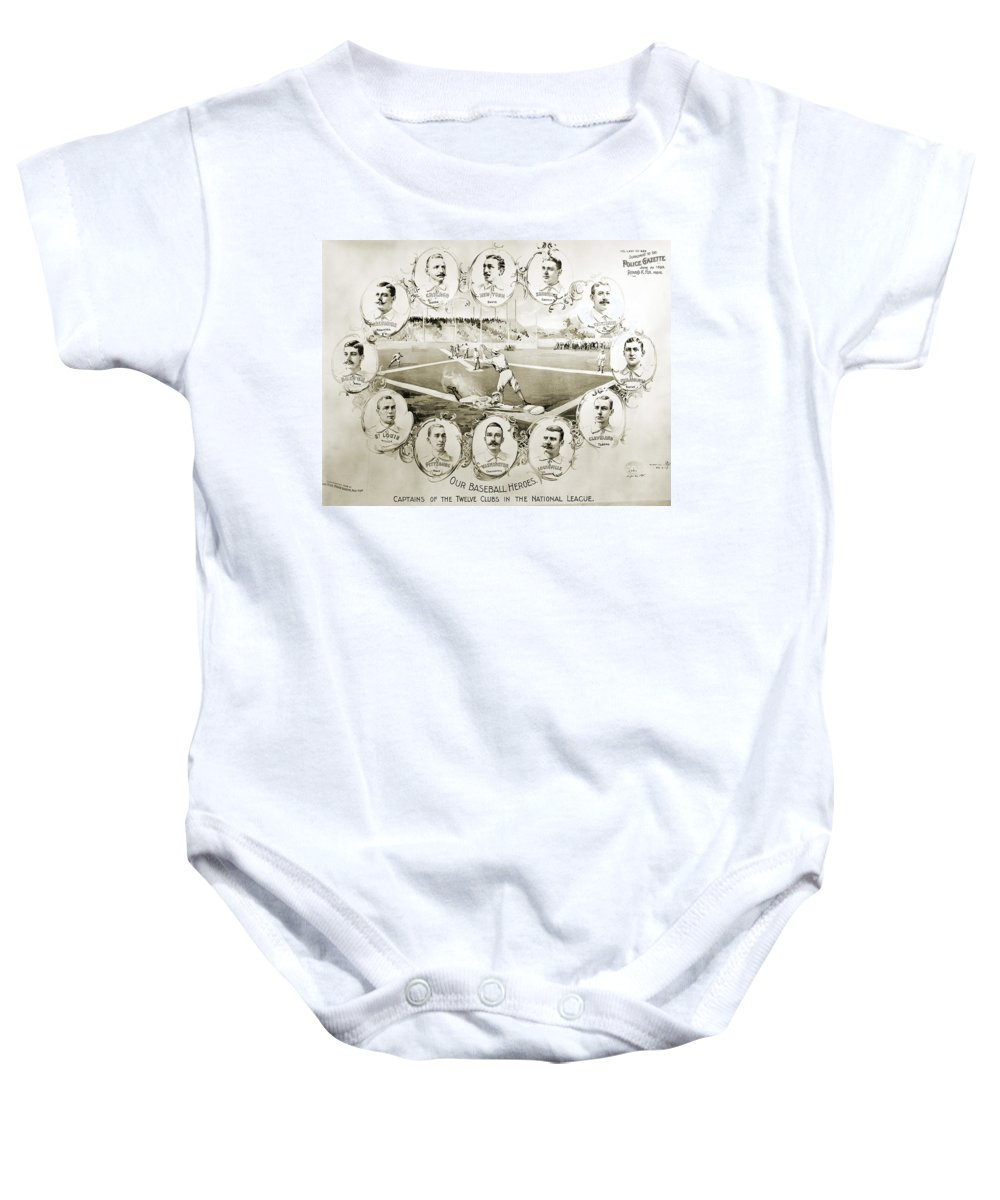 1895 Baby Onesie featuring the photograph Baseball, 1895 by Granger