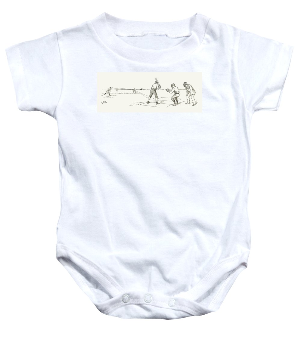 1889 Baby Onesie featuring the photograph Baseball Game, 1889 by Granger