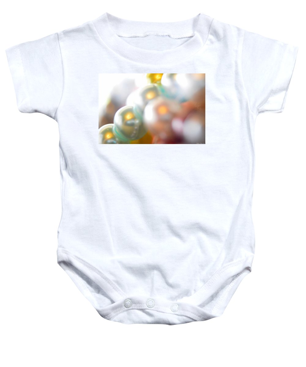 Beads Baby Onesie featuring the photograph Beads A Blur by Debbie Portwood