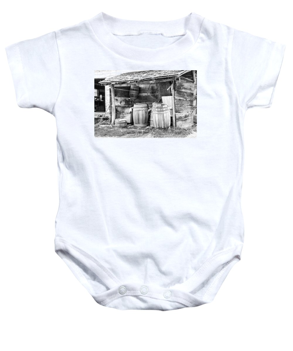Guy Whiteley Photography Baby Onesie featuring the photograph Behind The Hetchler House by Guy Whiteley