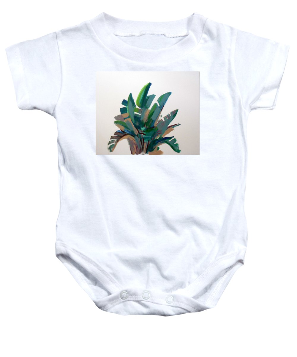 Paintings Baby Onesie featuring the painting Bird Of Paradise by Daniel Gale