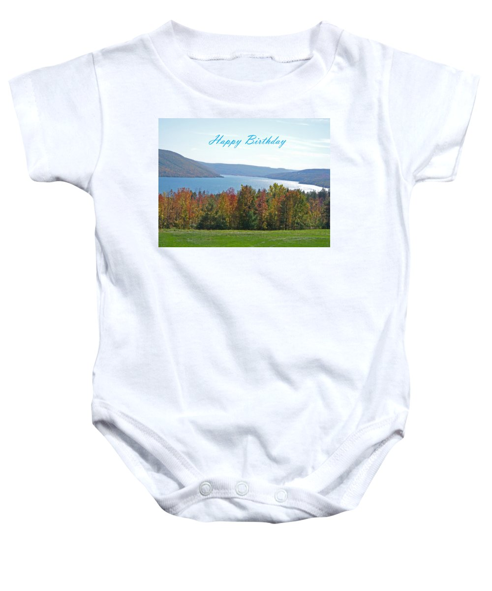 Autumn Baby Onesie featuring the photograph Bristol Harbor Birthday by Aimee L Maher ALM GALLERY