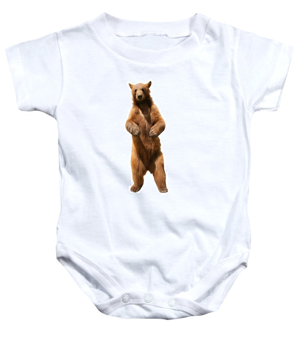 Approaching Baby Onesie featuring the photograph Brown Bear Ursus Arctos by Don Hammond