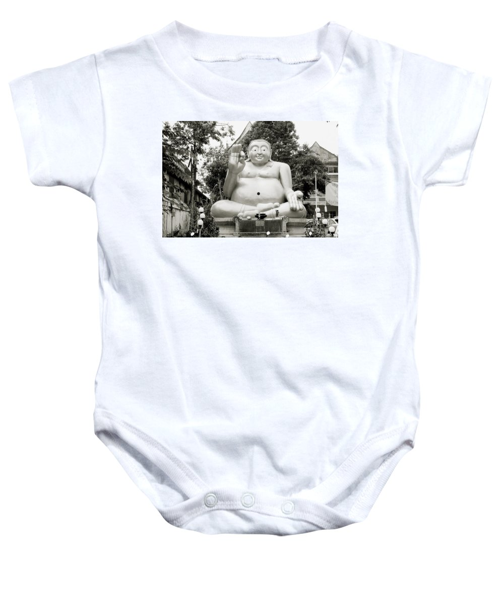 Asia Baby Onesie featuring the photograph Buddha by Shaun Higson