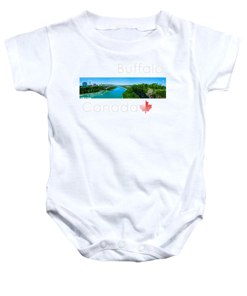 Canada Baby Onesie featuring the photograph Buffalo Canada by Syed Aqueel