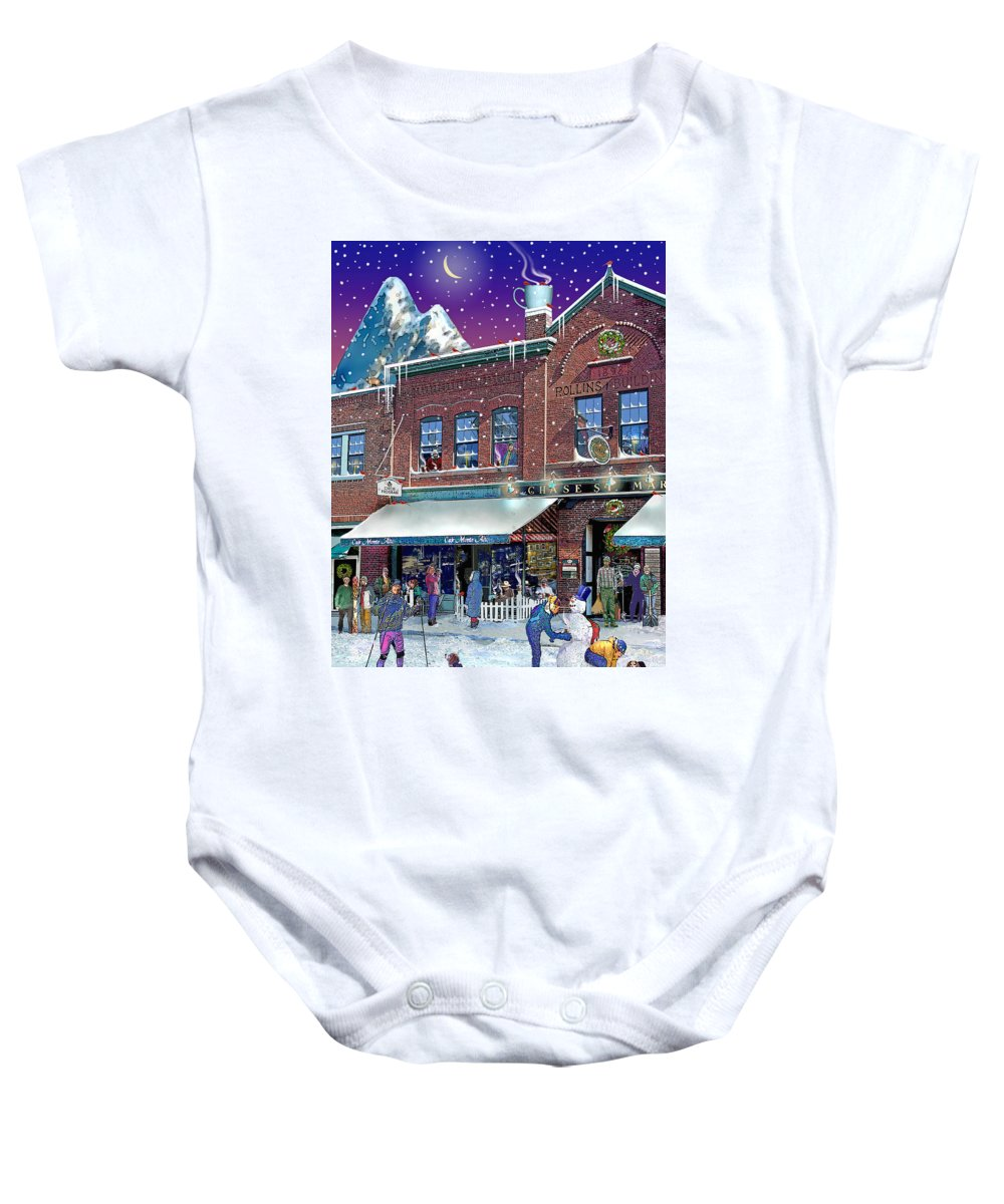 Prints Baby Onesie featuring the photograph Cafe Monte Alto by Nancy Griswold
