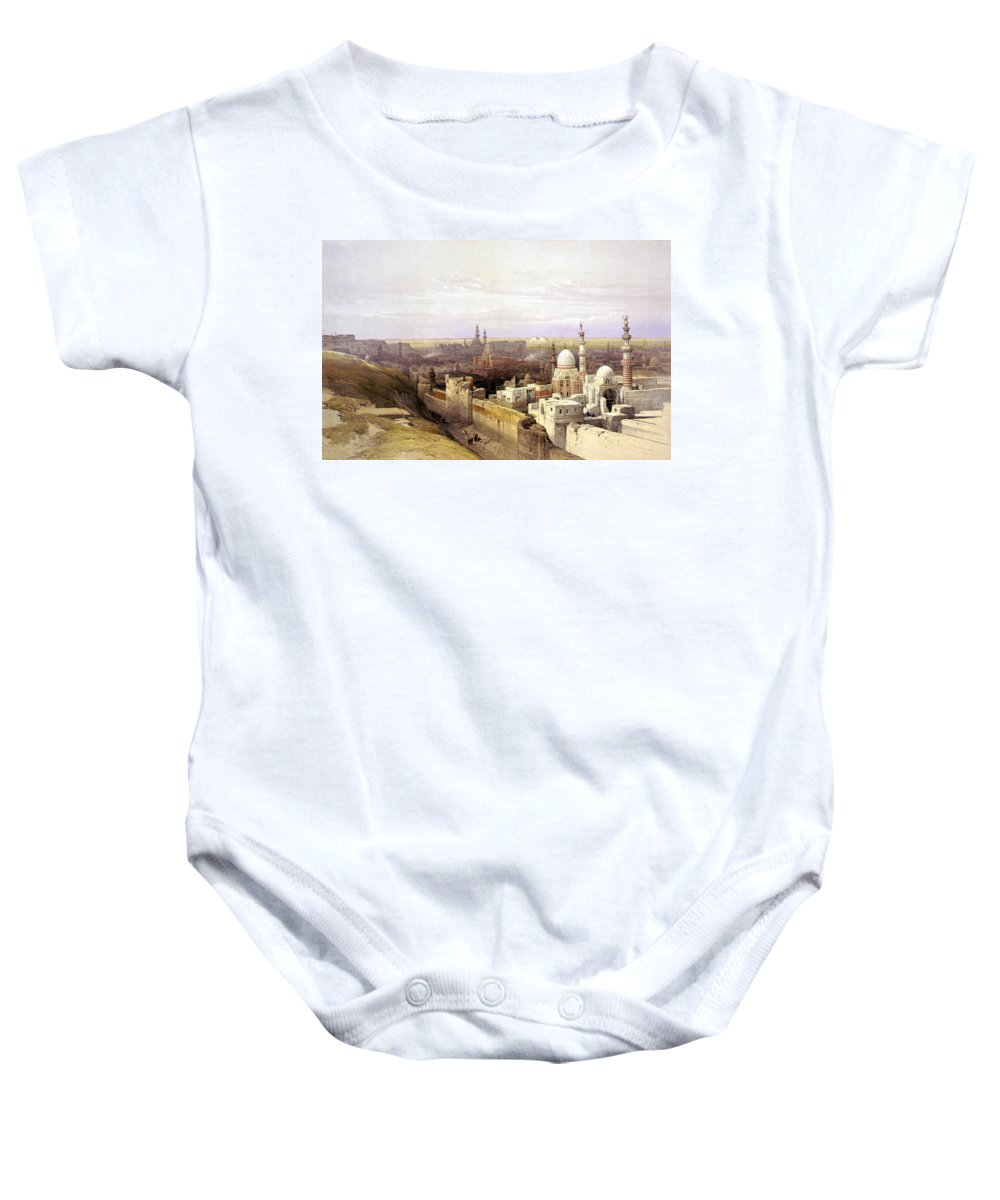 Cairo Baby Onesie featuring the photograph Cairo From The West by Munir Alawi
