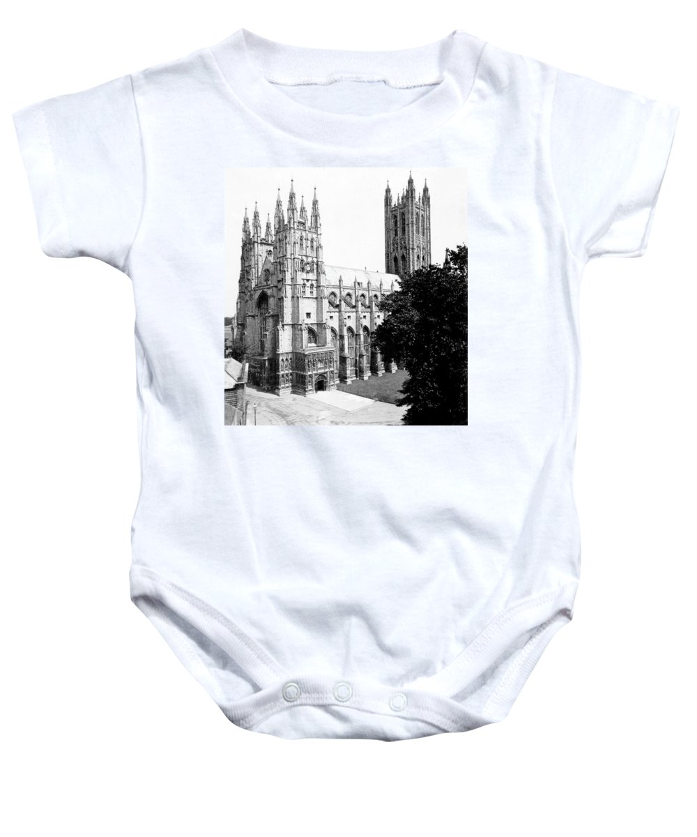canterbury Cathedral Baby Onesie featuring the photograph Canterbury Cathedral - England - C 1902 by International Images