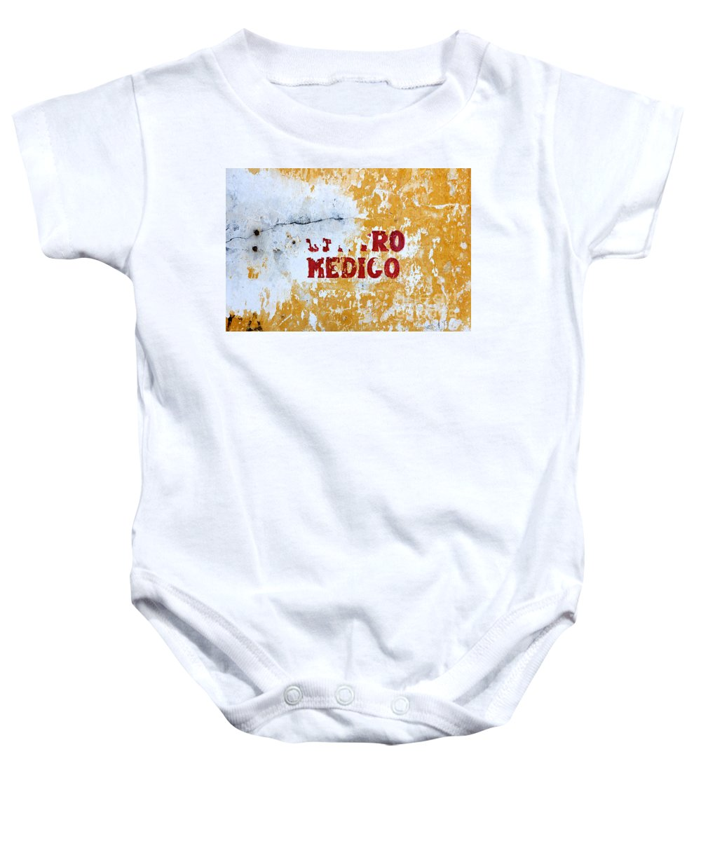 Care Baby Onesie featuring the photograph Centro Medico Sign by Jannis Werner