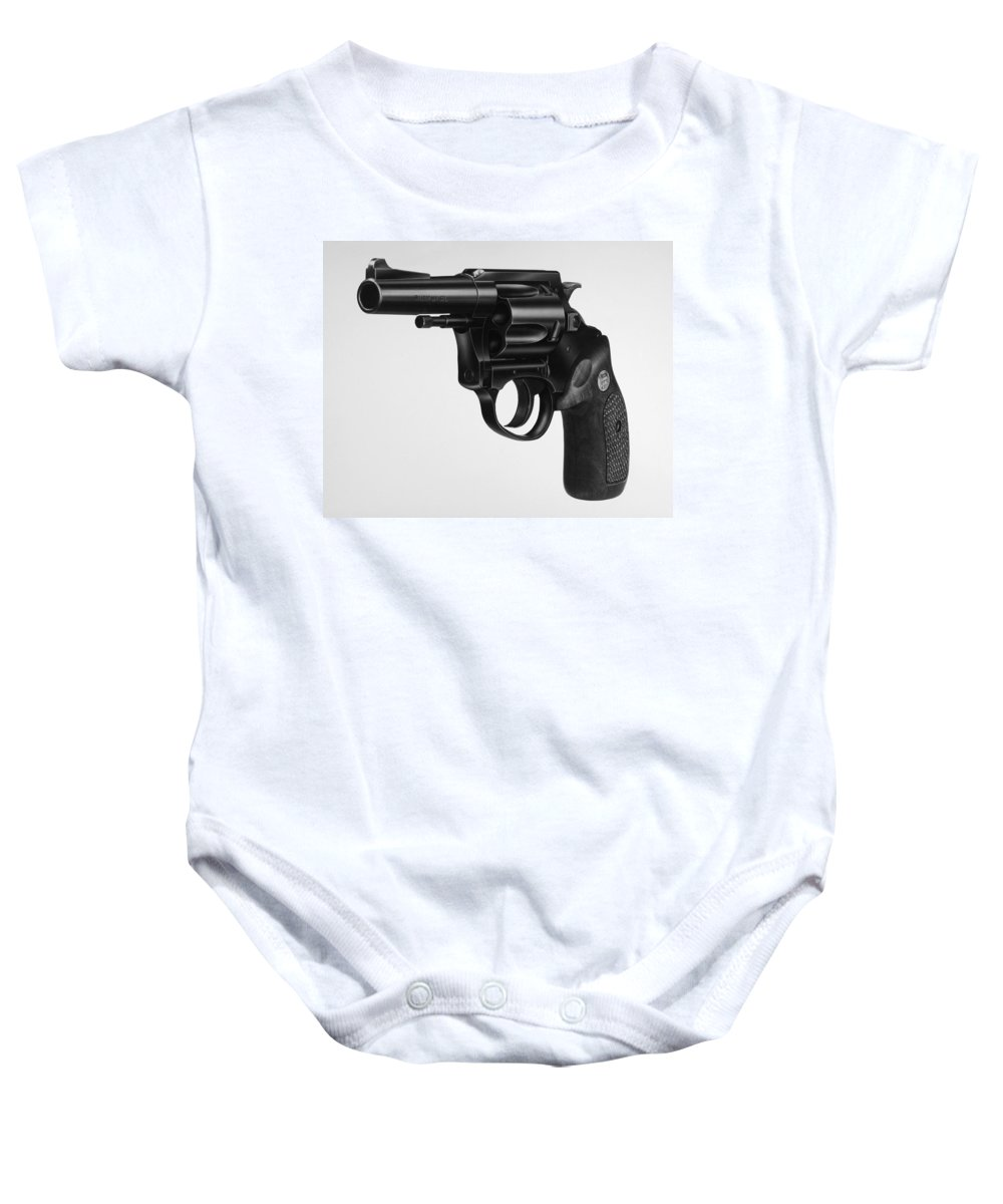 20th Century Baby Onesie featuring the photograph Charter Arms Revolver by Granger