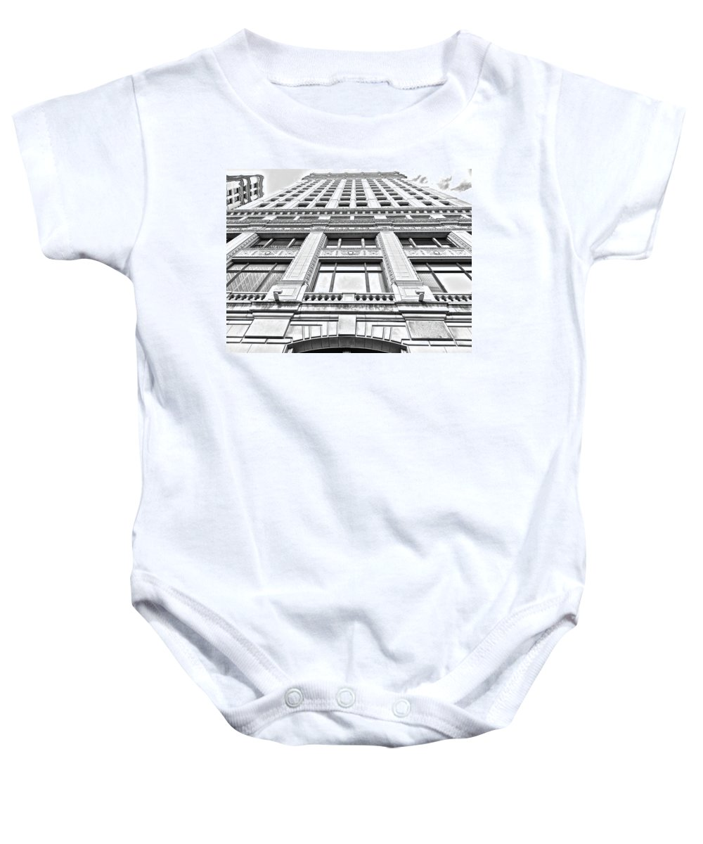 Chicago Baby Onesie featuring the photograph Chicago Impressions 8 by Marwan George Khoury