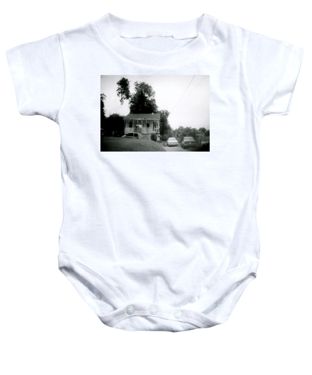 Louisiana Baby Onesie featuring the photograph Clothesline On The Porch by Doug Duffey