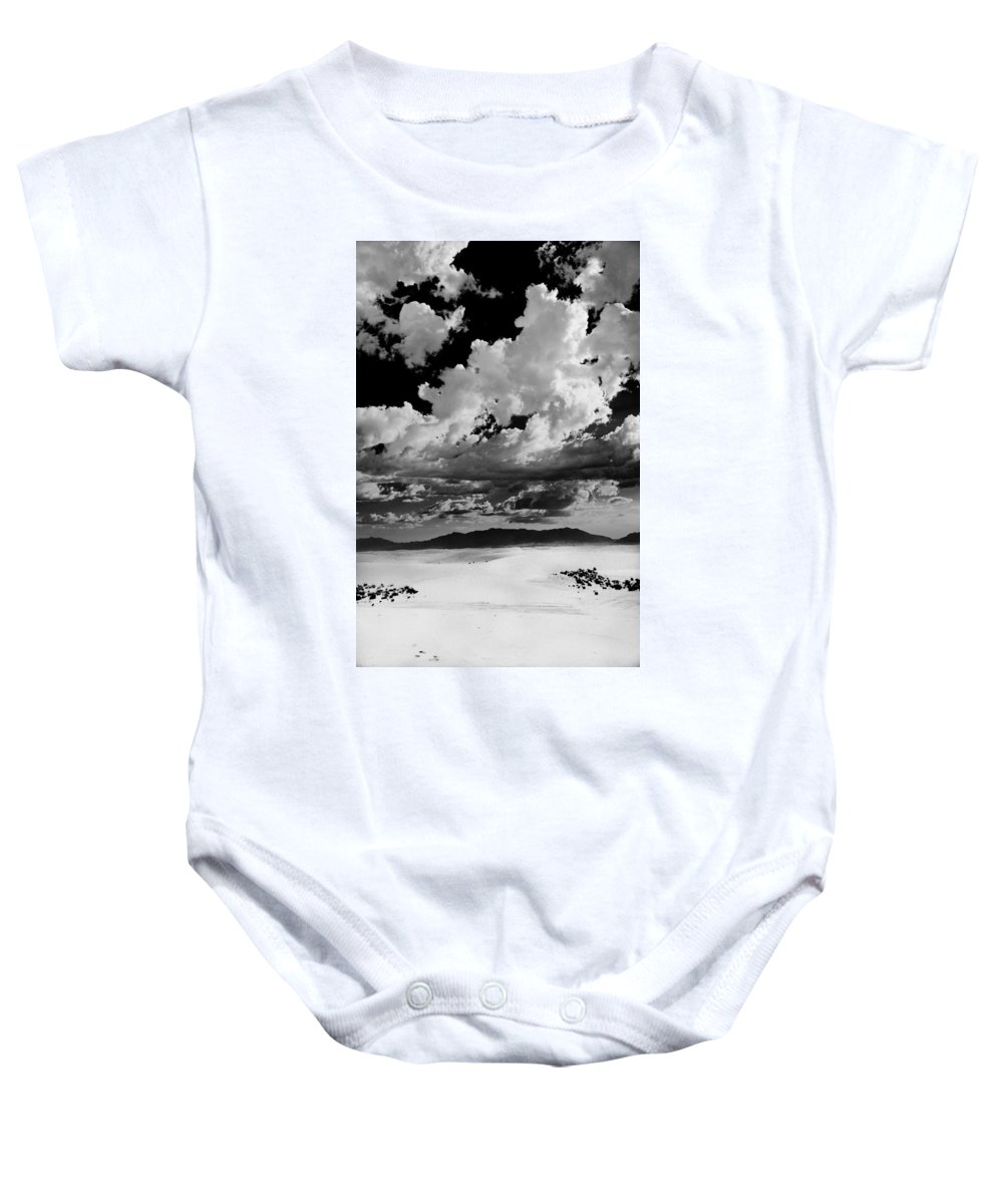 White Sands National Monument Baby Onesie featuring the photograph Clouds Above White Sands by Ralf Kaiser